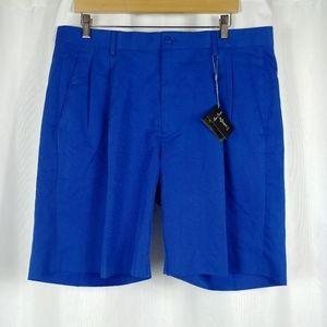 Alan Flusser Men's Golf Shorts Pleated